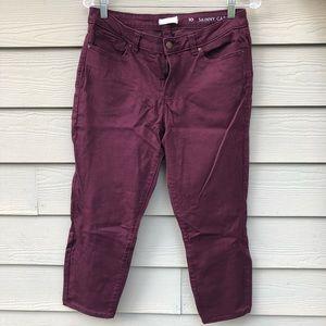 Lauren Conrad maroon jeans